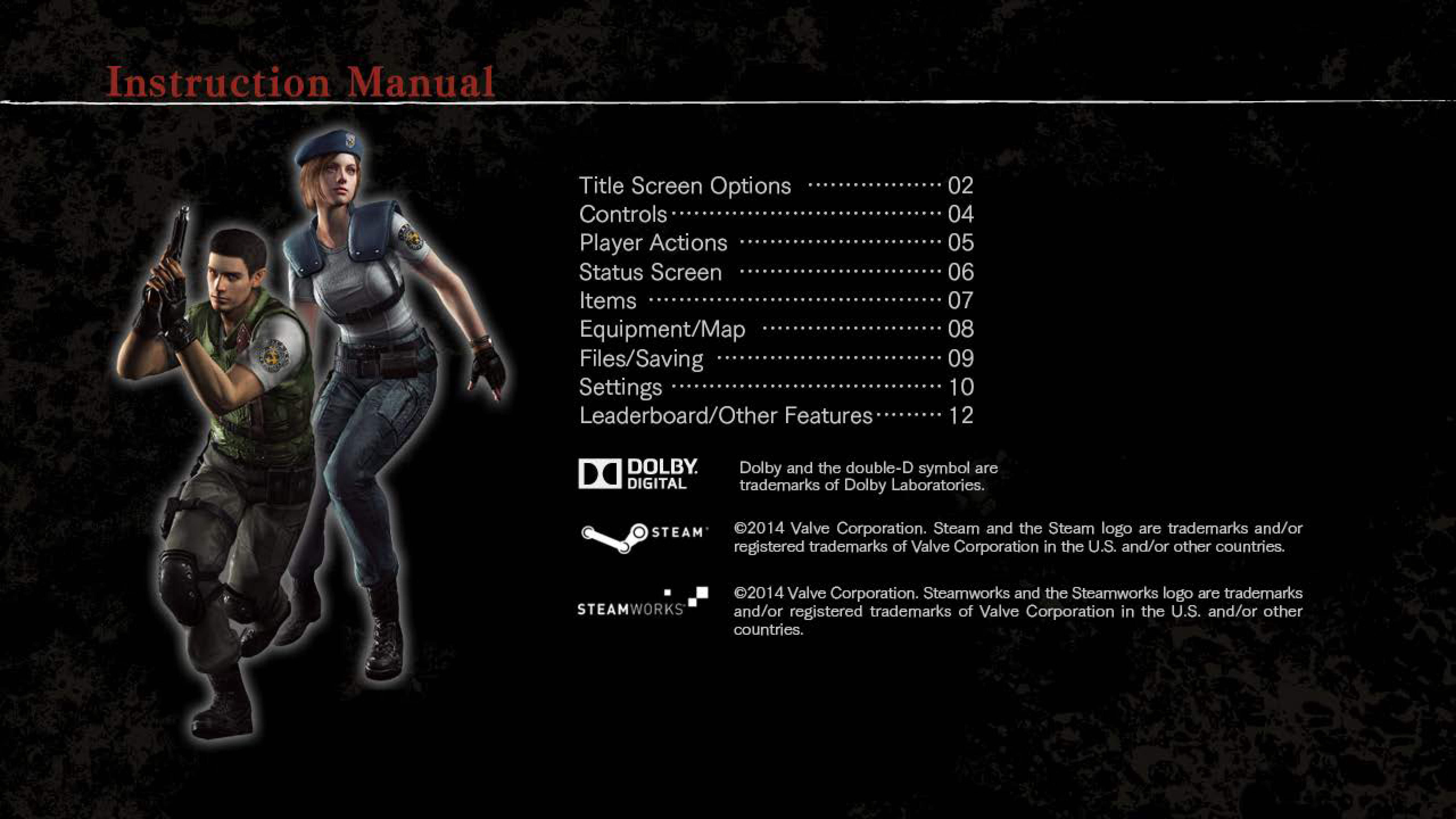 Resident Evil: HD Remaster manual