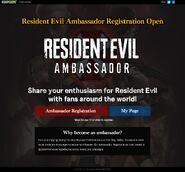 Resident Evil Ambassador main page (English ver.)