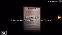Extracto del informe Wesker sobre el plan Tyrant.png