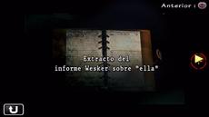 Extracto del informe Wesker sobre ella.png
