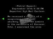 RE2 Patrol report 02