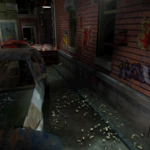 Resident Evil 3 background - Uptown - street along apartment building c - R10D02.png