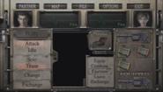 Resident Evil Zero Grenade Launcher menu