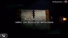 Notas de Wesker sobre las distintas mutaciones.png