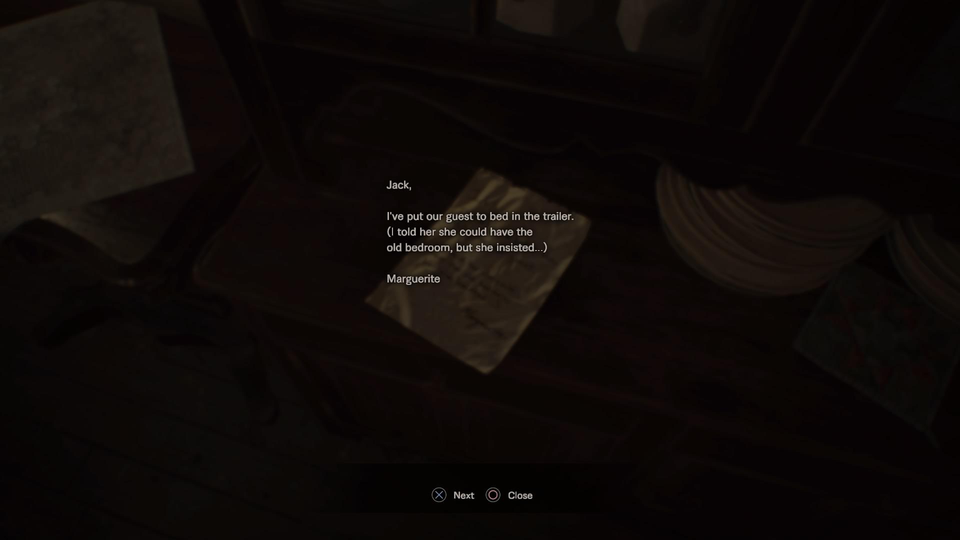 Marguerite's Note