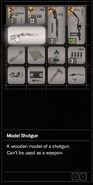RESIDENT EVIL 7 biohazard Model Shotgun inventory