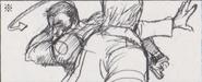 Leon vs. Chris storyboard 11