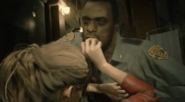 Marvin Zombie attacks Claire Redfield RE2 remake