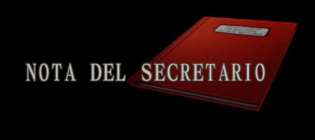 Nota del secretario