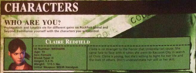 Claire guidebook CV