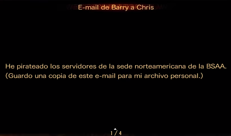 E - mail de Barry a Chris