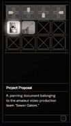RESIDENT EVIL 7 biohazard Project Proposal inventory