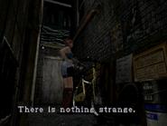 Resident Evil 3 Nemesis screenshot - Uptown - Warehouse back alley examine 03
