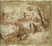 Biohazard 4 Incubate village drawing 8
