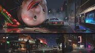 RE3 remake CONCEPT ART - Downtown