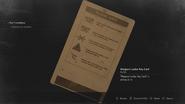 RE2 remake - Weapons Locker Key Card (back)