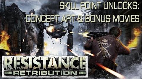 Resistance Retribution - Skill Point Unlocks Concept Art & Bonus Movies