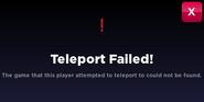 Teleport Fail