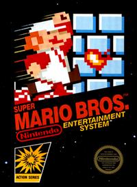 The box art for the NES version of Super Mario Bros.