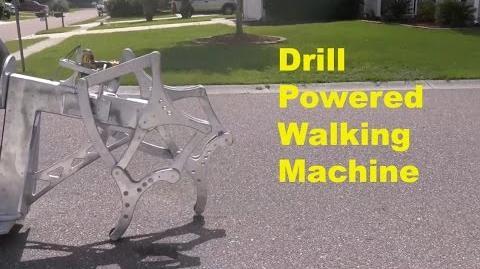 Drill-Powered Walking Machine