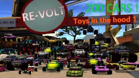 Re-volt - 200 Cars race ! - Toys in the hood