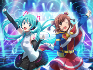 Co-starring with Hatsune Miku!