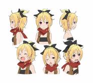 Felt Character Art Face Angles