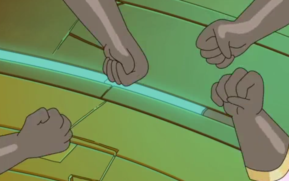 Rick, Laser, Scissors