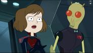 Tammy in Intergalactic Federation Uniform