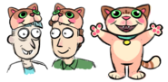 Issue 21 CJ Cannon doofus rick and jerry cat hat