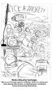 PLYSI Marc Ellerby issue 2 cover progress sketch