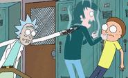 Rick freezing Frank