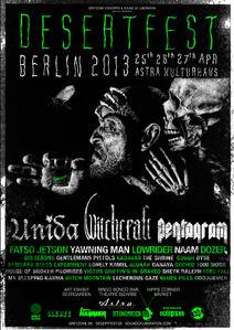 Desertfest Berlin 2013 Poster