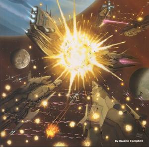 Space Battle (Rifts Dimension Book, Fleets of the Three Galaxies