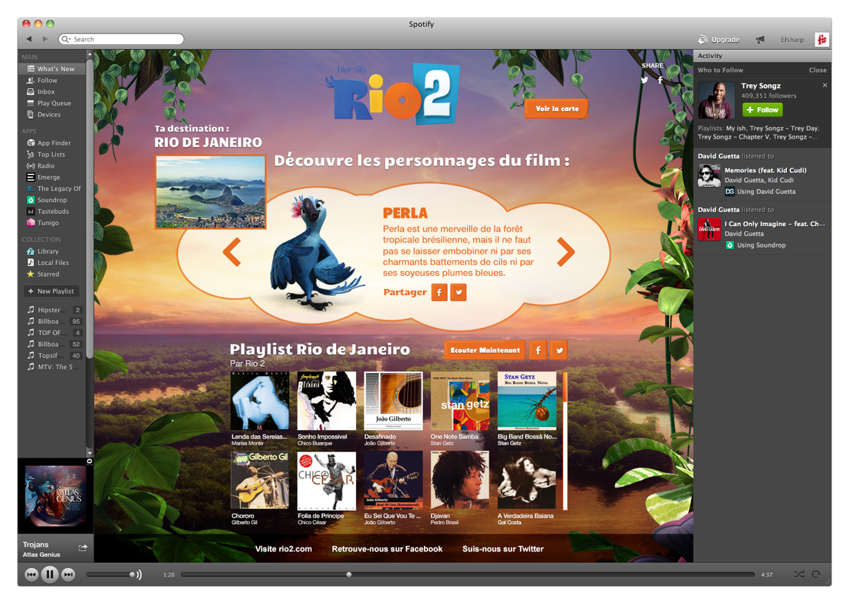 Edgardlop/Posible Rio 2 Soundtrack and new webpage