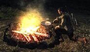 Amener de la viande rôtie à Sara