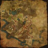 Petite carte de l'île - contenu