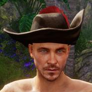 Hut mit roter Feder