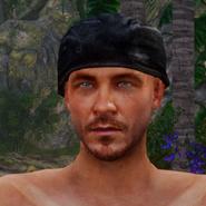 Schwarzes Kopftuch