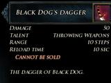 Black Dog's Dagger