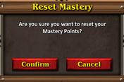 Combat mastery reset