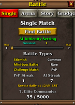 Battle menu