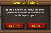 Combat mastery remove point