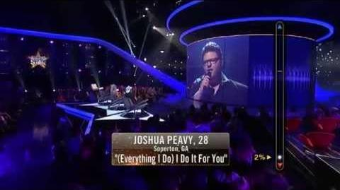 Rising Star - Joshua Peavy Sings '(Everything I Do) I Do It for You'