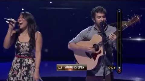 Rising Star - Daniel and Olivia Sing 'Counting Stars'