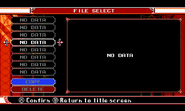 Curse of the moon file select screen