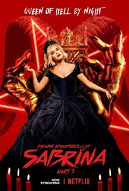 Chilling-adventures-of-sabrina-part-3-poster-kiernan-shipka-Queen of Hell by night