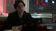 Season 1 Episode 1 The River's Edge Jughead writing.png