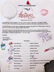 Page de prod pour Heather the musical