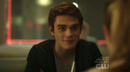 Season 1 Episode 1 The River's Edge Archie at Pop's diner